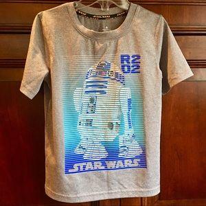 EUC R2D2 Star Wars Tee with Metallic Detail